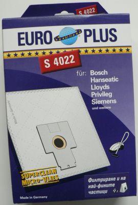 Торби за прахосмукачки BOSCH - 4 бр. (Europlus S 4022; отговарят на код TONI: BO11)