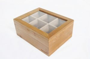 Бамбукова кутия за чай, 6 разделения (ВАМ174)