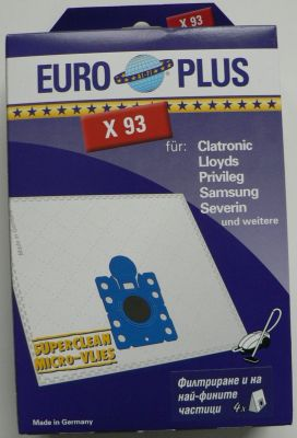 Торби за прахосмукачки SAMSUNG - 4 бр. (Europlus X 93; отговарят на код TONI: SA60)